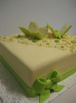 motýlový dort
