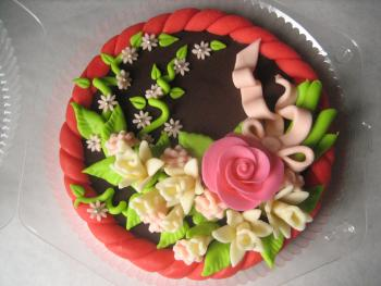 Roses on chocolate