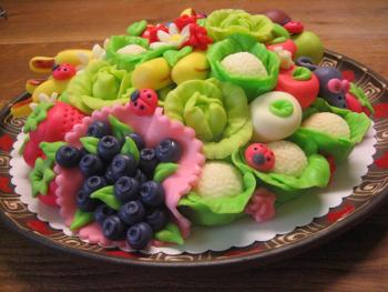 Plate with vitamins